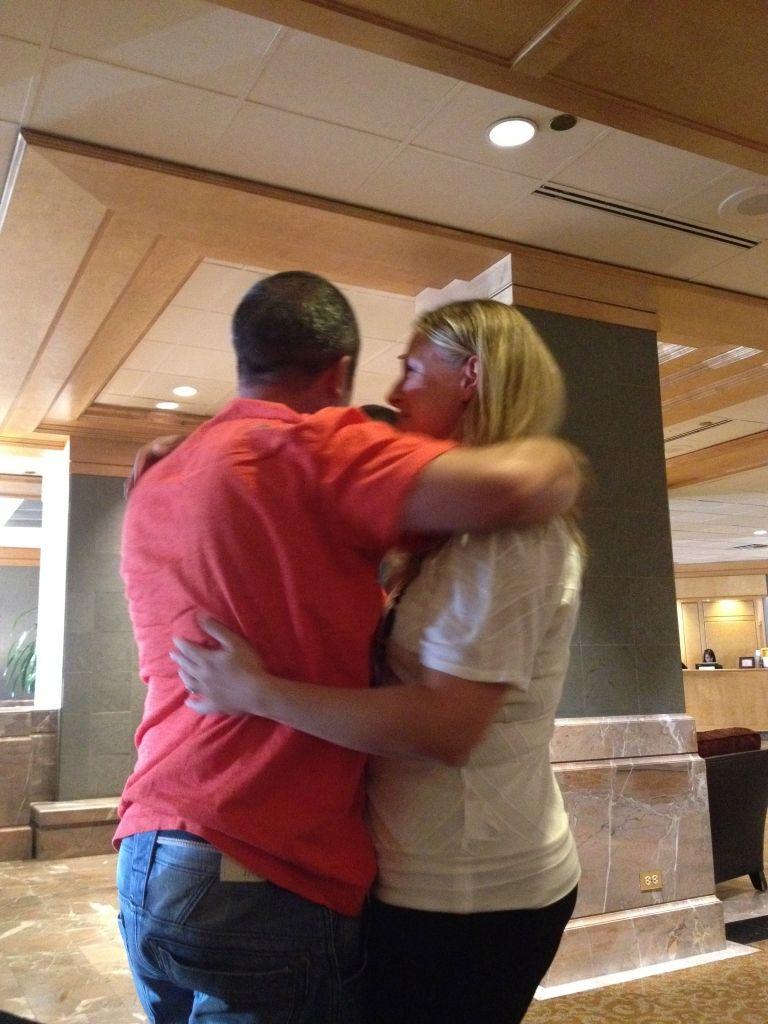 meeting mark hugs